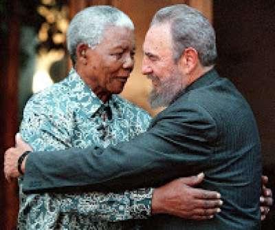 Présidents Castro et Mandela