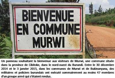 Burundi : Exécutions sommaires perpétrées par l'armée et la police