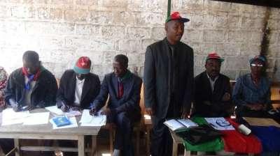 La réunion des structures du parti CNDD à Bururi.