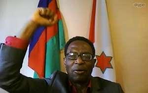 Le congrès du CNDD vu en image: Léonard Nyangoma président du CNDD s'adresse par vidéo conférence au congressistes
