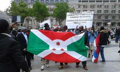 Images de la manifestation du samedi 20 juin 2015 contre le 3eme mandat de Pierre Nkurunziza à Cologne